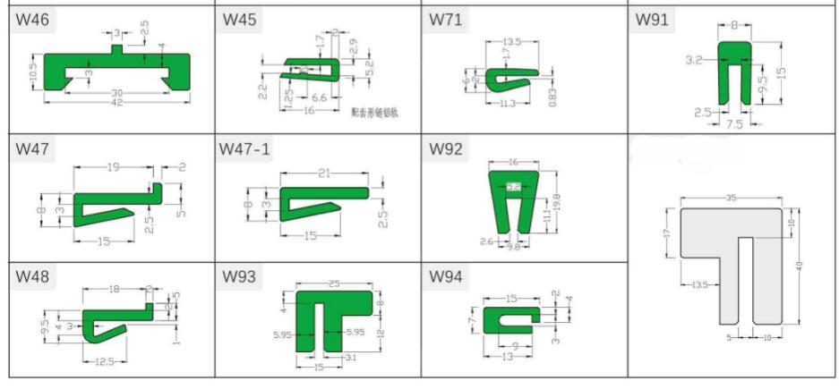 Wear Strips W241 W244 W261 W262