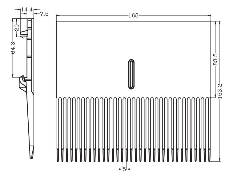 Comb plate for series 1000