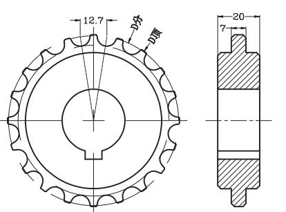 Sprocket for Ast1270